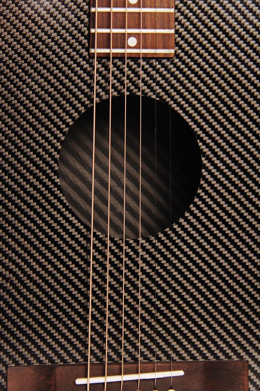 32586031f54 KLOS Black Carbon Fiber Travel Acoustic Guitar Package (Guitar, Gig ...