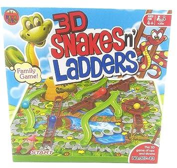 Juego de Mesa de Serpientes y escaleras 3D, diversión Familiar ...