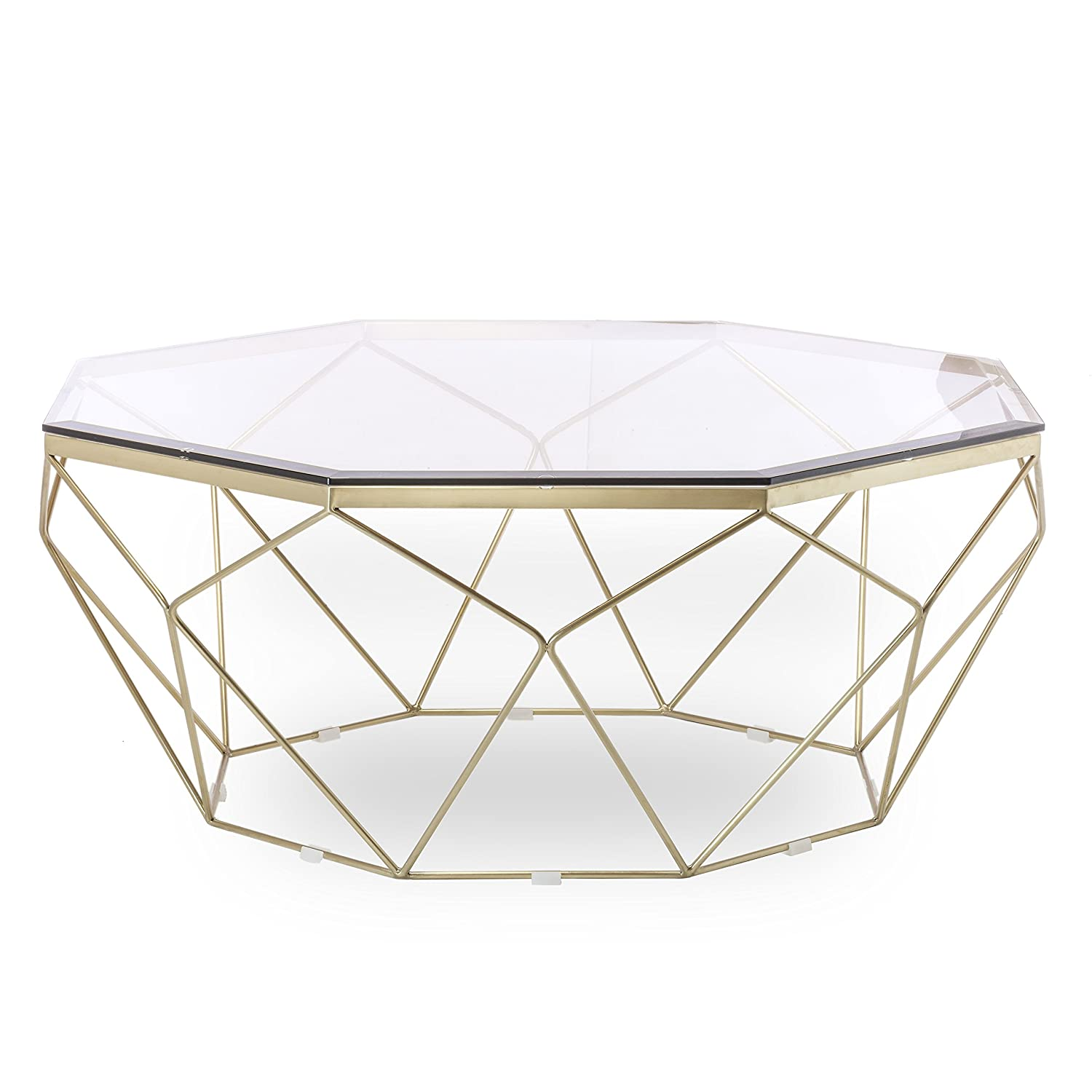 Tremendous Amazon Com Design Tree Home Esme Geometric Coffee Table Inzonedesignstudio Interior Chair Design Inzonedesignstudiocom