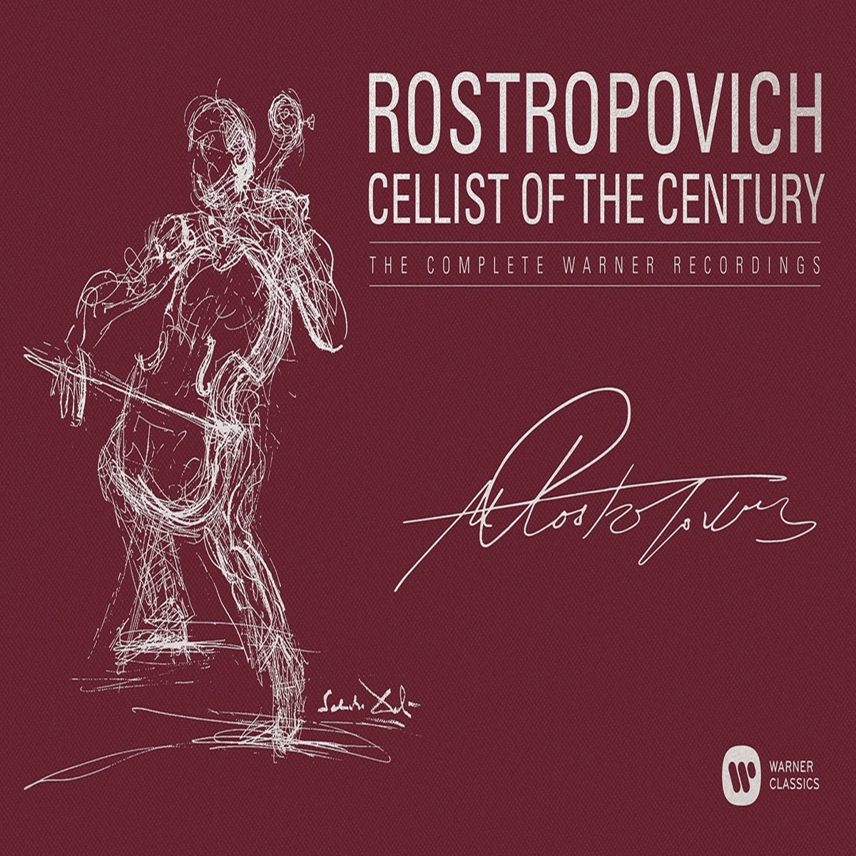 Mstislav Rostropovich - Cellist of the Century -  The Complete Warner Recordings (40CD)
