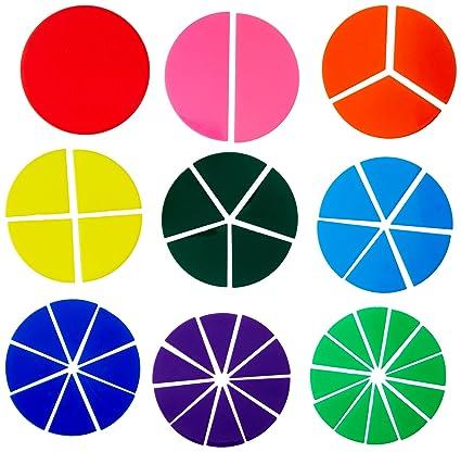amazon com school smart fraction circles set of 51 assorted