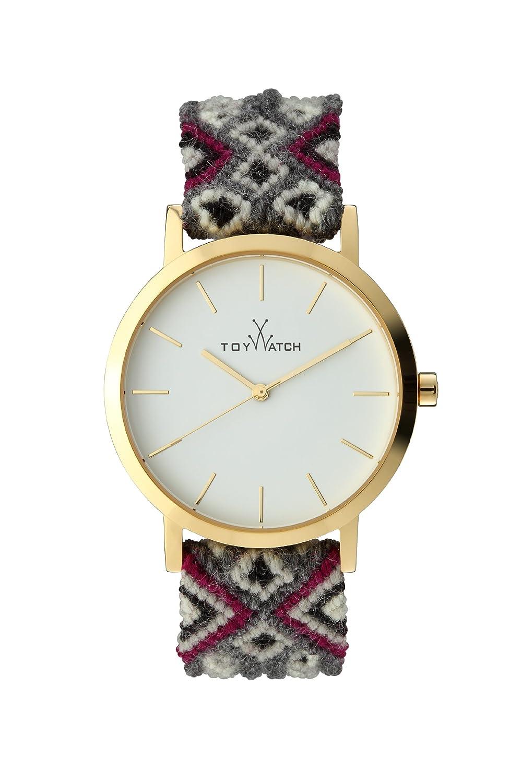 Maya Toywatch Women'Quarz-Uhr mit weißem Zifferblatt Analog-Anzeige und Grau - MYW09GD
