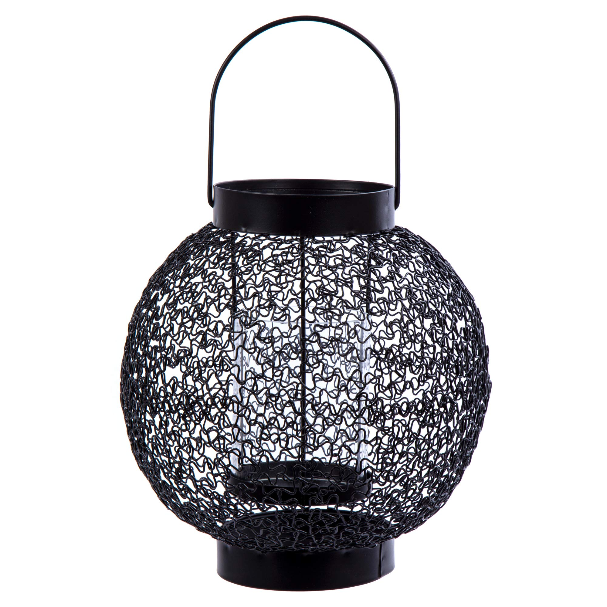 Truu Design, 7 inches, Metal Candle Holder, Black
