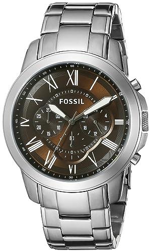 Fósil de hombre fs5090 subvención Cronógrafo Acero inoxidable reloj: Fossil: Amazon.es: Relojes