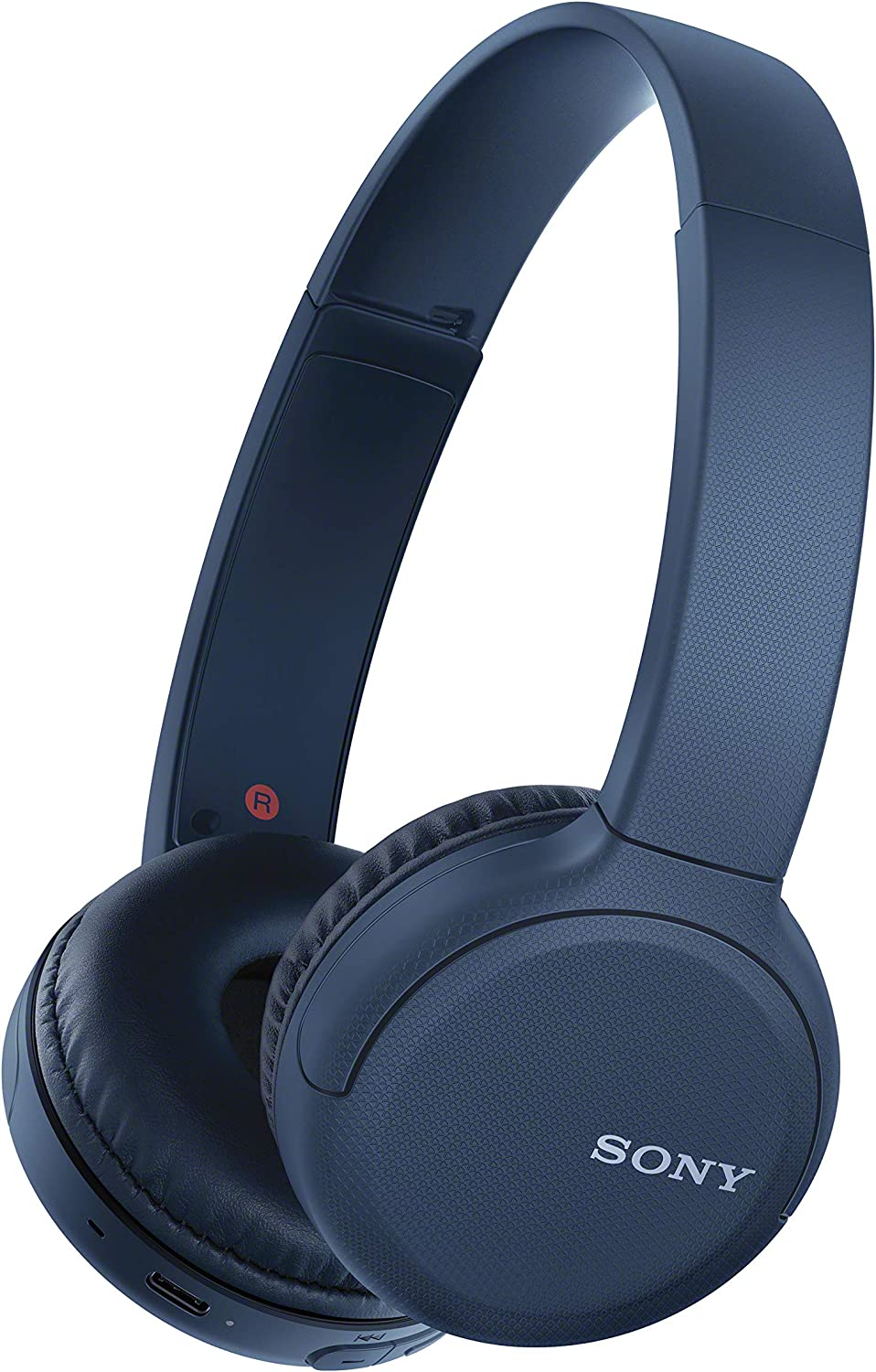 Sony Wireless Headphones WH-CH510: Wireless Bluetooth On-Ear Headset with Mic for phone-call, Blue
