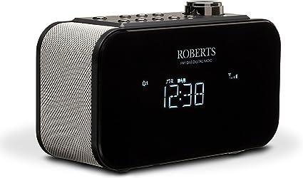 Roberts Radio Ortus 2 Dab+FM Radio réveil avec USB Chargeur Noir