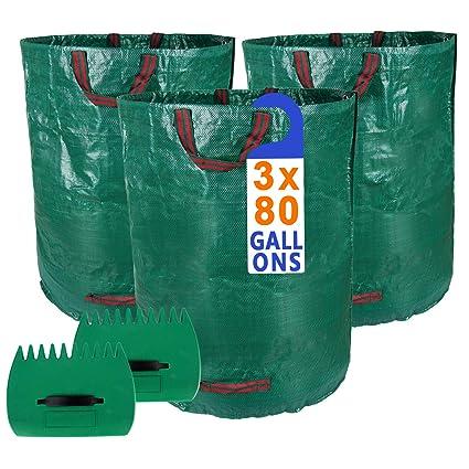 Amazon.com: Bolsas de hojas de 80 galones y palas de hojas ...