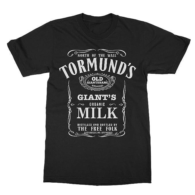 590cd544d Memento Tormund's Old Giantsbane Brand Giant's Milk Game Shirts Thrones T- Shirt (Black,