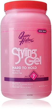 Queen Helene Gel 5 Lb. Stylng Hard to Hold Pink 2-Pack with Free Nail File