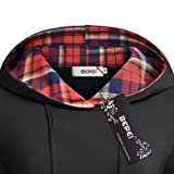 BEPEI Hoodies for Women,Classic Long Sleeve Plaid