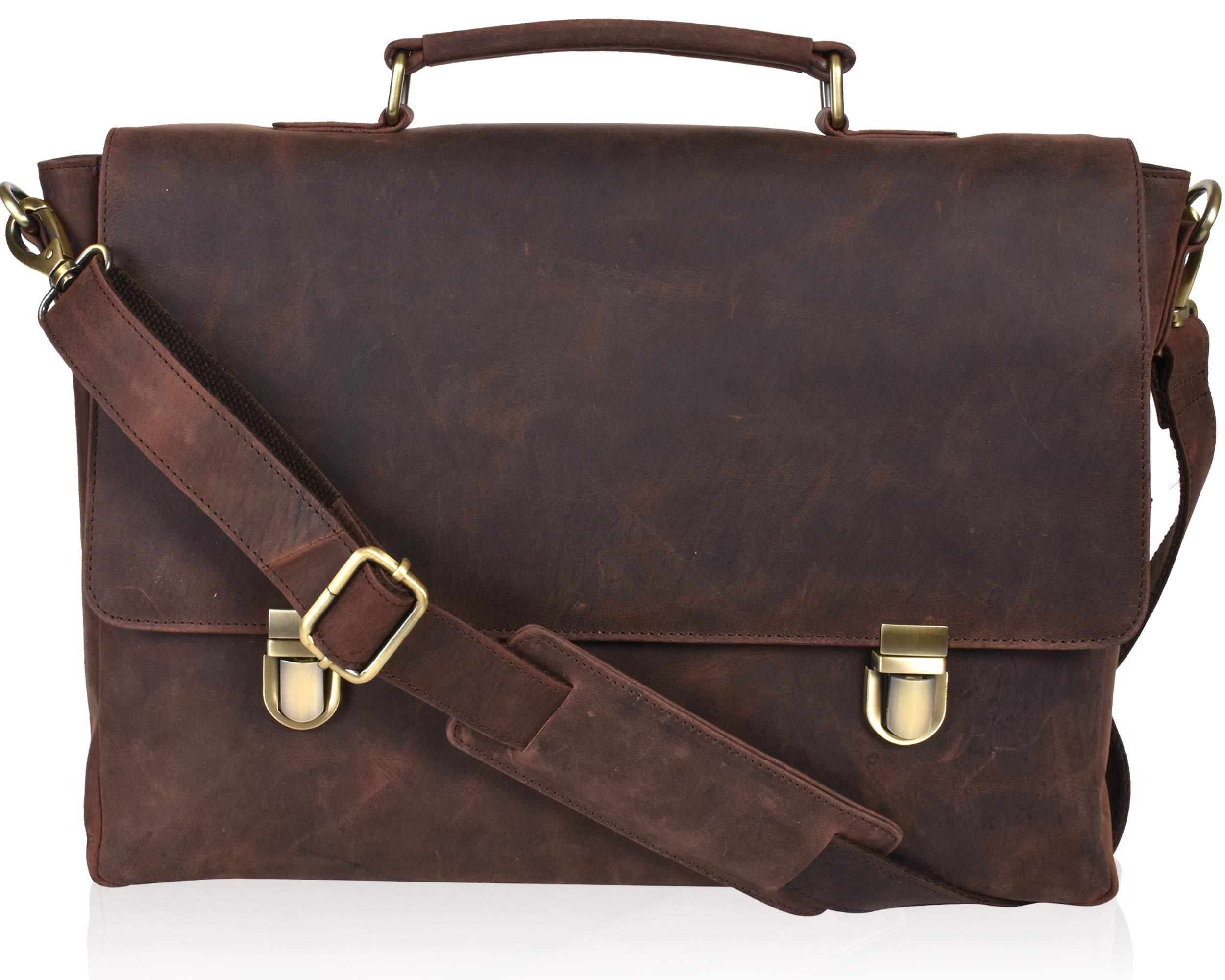 Offie Briefcase Laptop Satchel Bags Leather Messenger Bag for Men /& Women