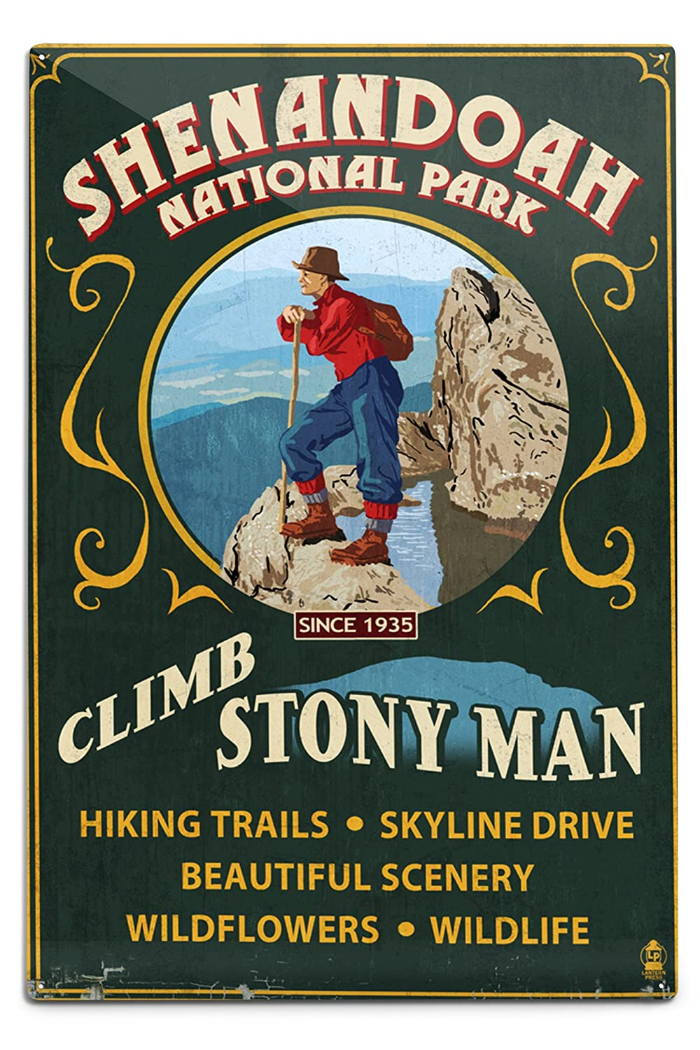 最安値級価格 Shenandoah国立公園 18、バージニア州 Sign – Climb Stony Man Vintage Sign 12 9 x 12 Art Print LANT-42285-9x12 B06Y1FF1V7 12 x 18 Metal Sign 12 x 18 Metal Sign, ファッション雑貨オーバーフラッグ:6486be9a --- arianechie.dominiotemporario.com