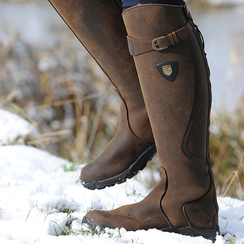Mountain Horse Unisex Winter Reitstiefel Snowy River braun, Regular Wide, 40