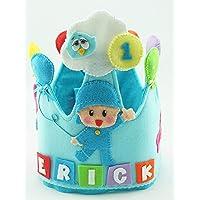 Corona Cumpleaños Infantil Personalizada Pocoyó