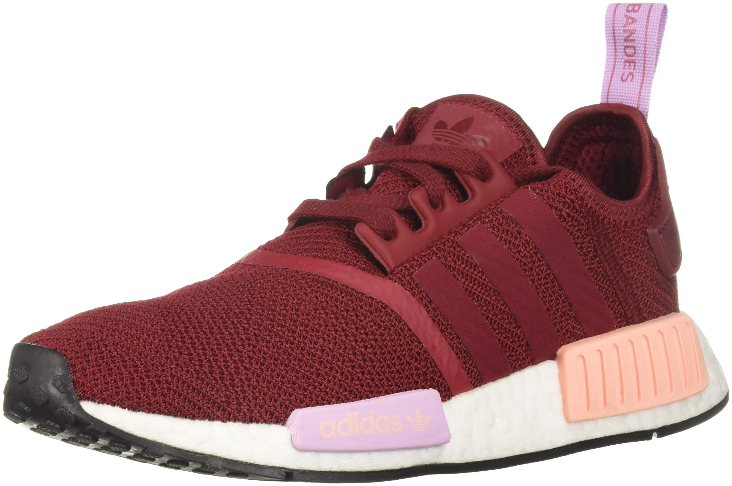 adidas Originals Women's NMD_R1, Burgundy/Clear Orange, 5 M US
