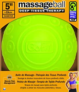 Massage Ball 5in by GoFit | Deep Muscle Tissue Relief with Trigger Point,  Targeting Knots