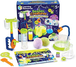 Learning Resources Beaker Creatures Monsterglow Lab, Science Exploration, Slime, STEM, Homeschool, Ages 5+, Multi