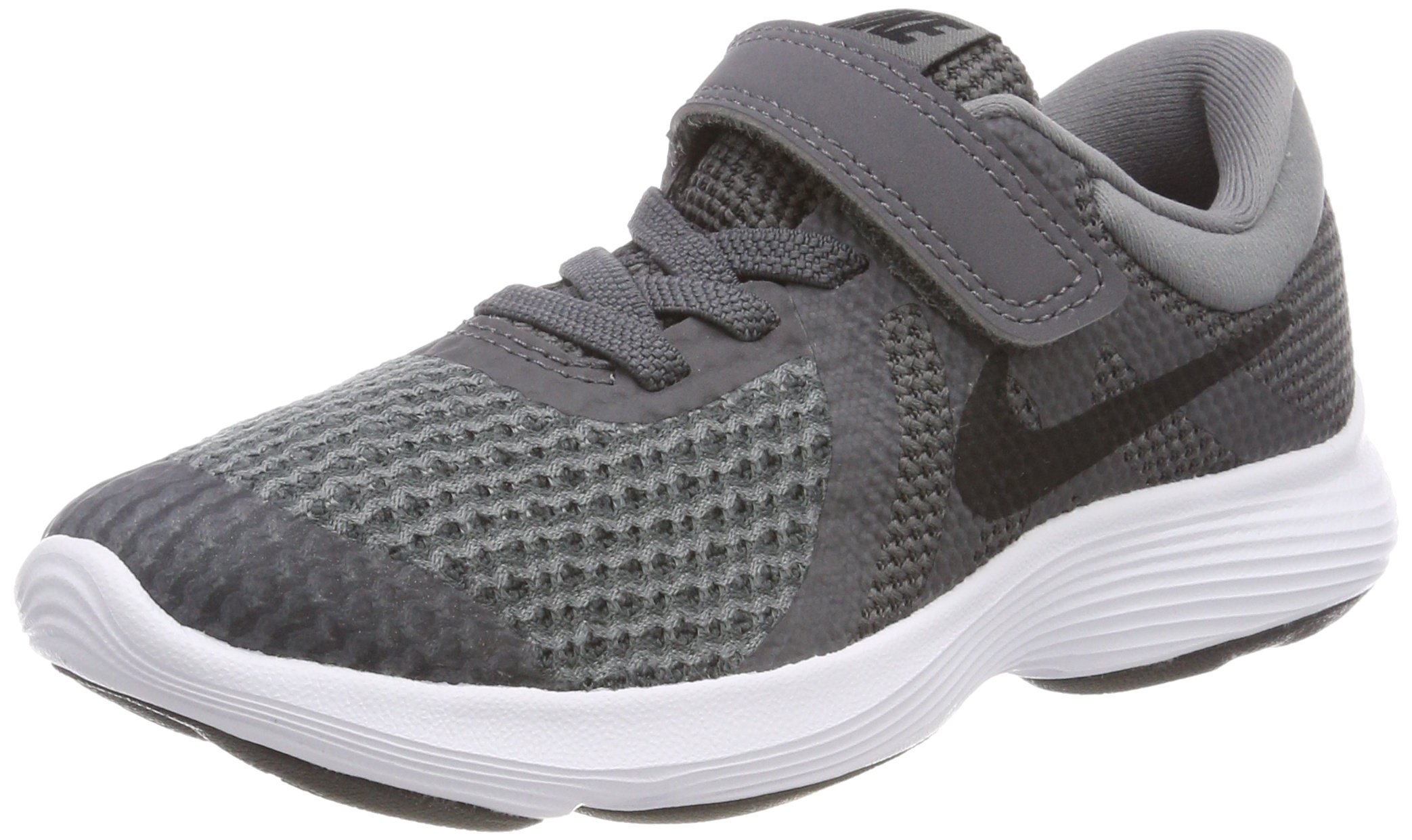Nike Boys' Revolution 4 (PSV) Running Shoe, Dark Black-Cool Grey-White, 1.5Y Regular US Little Kid by Nike