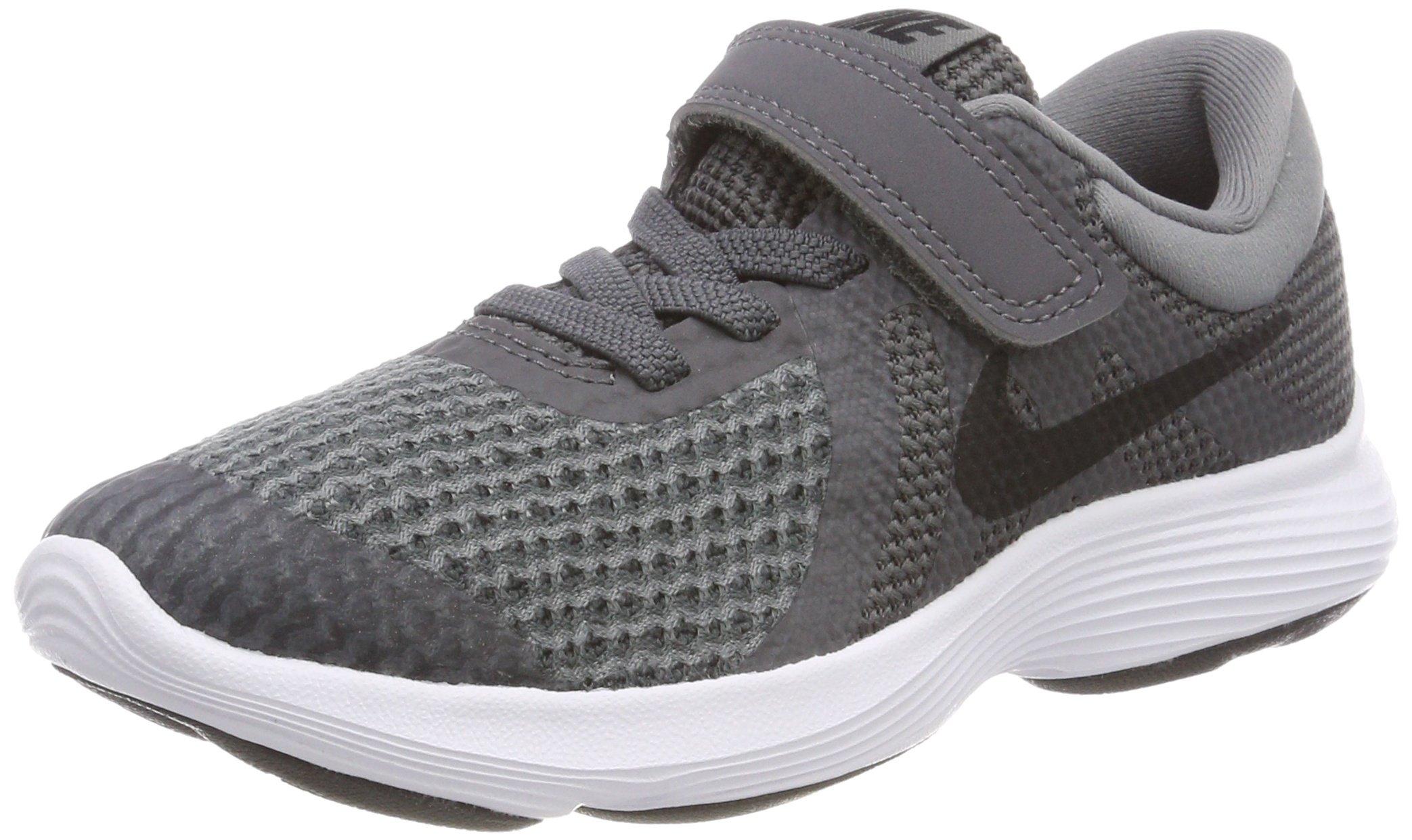 Nike Boys' Revolution 4 (PSV) Running Shoe, Dark Black-Cool Grey-White, 10.5C Regular US Little Kid by Nike