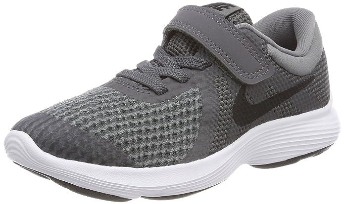 Nike Rovolution 4 Jungen Kinderschuhe grau mit schwarzem Streifen