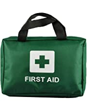 Raxter 99 Piece Premium First Aid Kit Bag - Includes Eyewash, 2 x Cold (Ice) Packs and Emergency Blanket for Home, Office, Car, Caravan, Workplace, Travel and Sports (Green)