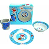Doraemon - Set de desayuno porcelana (plato, bol y taza), color azul (United Labels 810667)