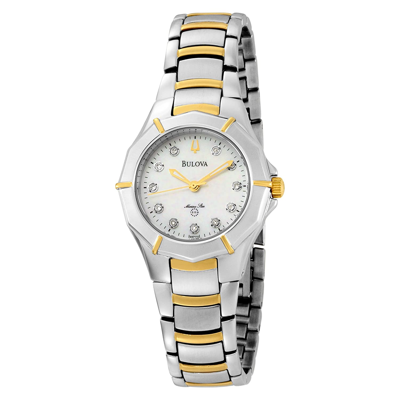 c6850fa8ce5 Bulova Women S 98P110 Marine Star Diamond Accented Two-Tone Stainless Steel  Watch  Bulova  Amazon.co.uk  Watches