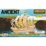 Puzzled, Inc. 3D Natural Wood Puzzle - Ancient Sailboat