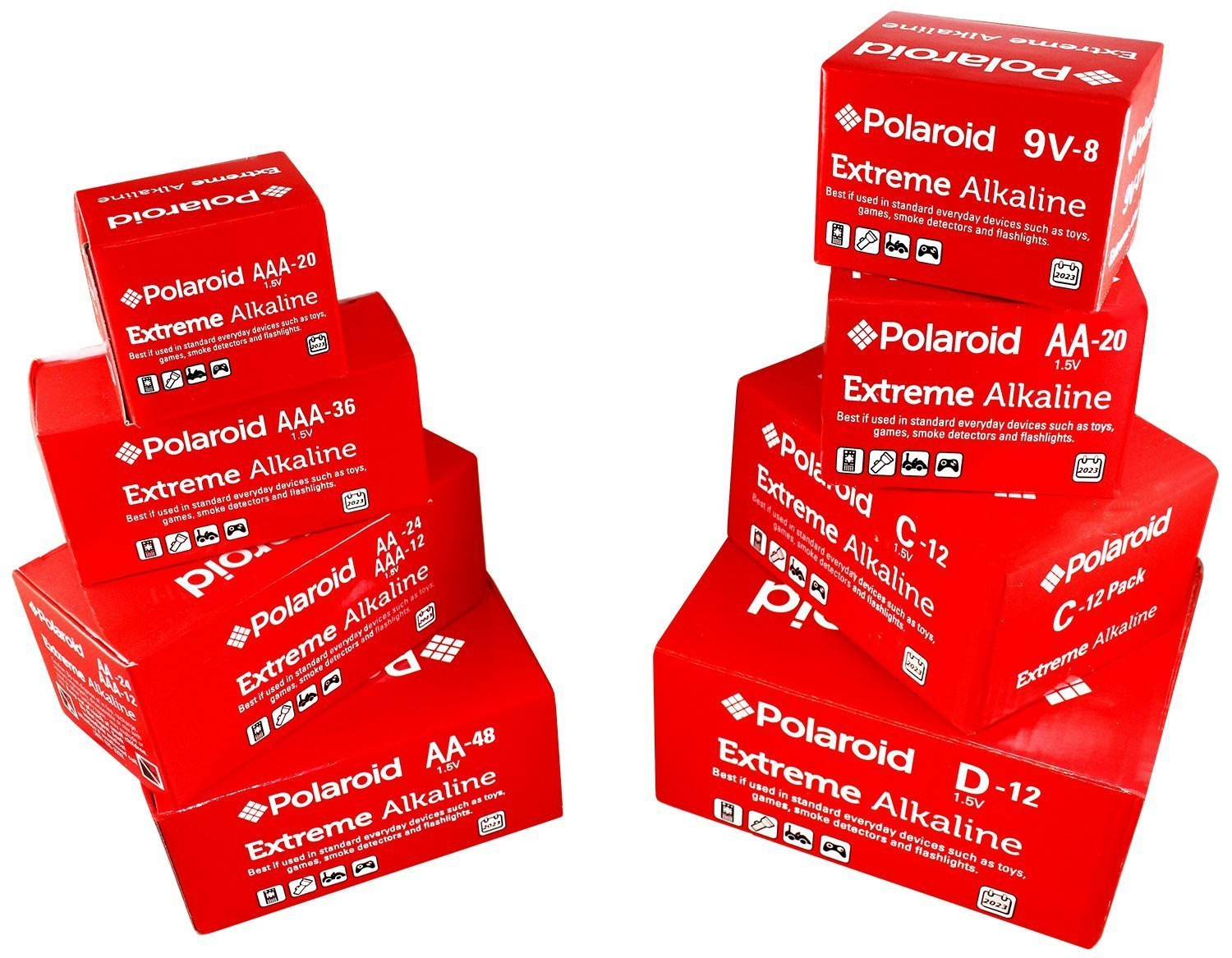Amazon.com: Pilas alcalinas AA Polaroid Extreme Value (48 ...