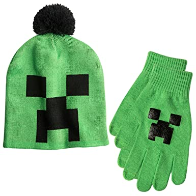 22cfde95ddb02 Image Unavailable. Image not available for. Colour  Boys Minecraft Creeper  Hat   Gloves Set