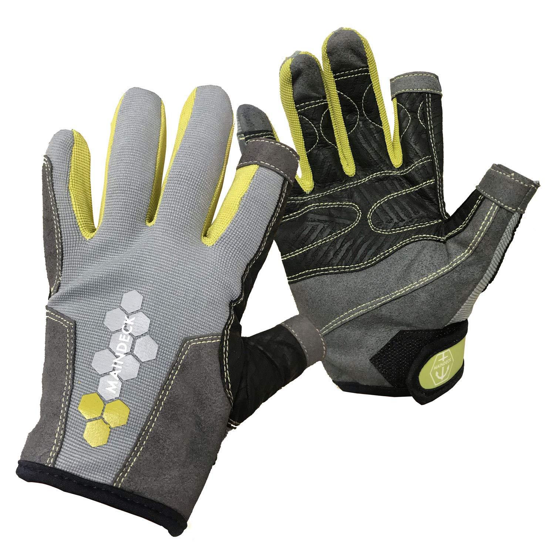 Maindeck Elite 3 Finger Sailing Gloves 2019 S by Maindeck