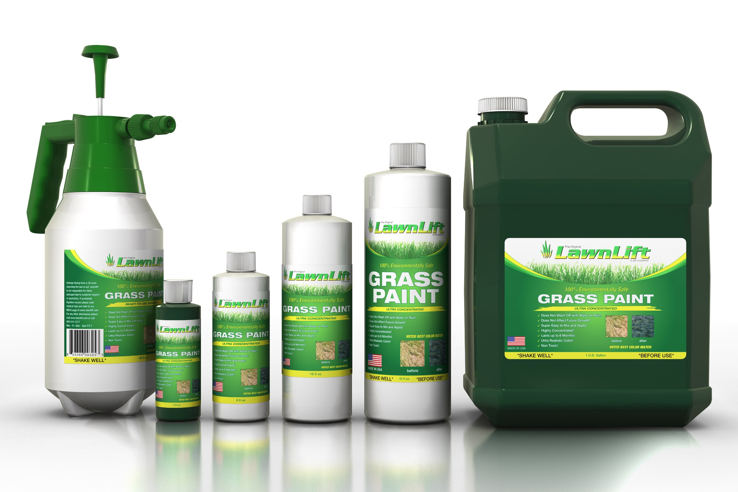 Lawnlift Ultra Concentrated (White) Grass Paint 16oz. = 1.375 Gallons of Product.