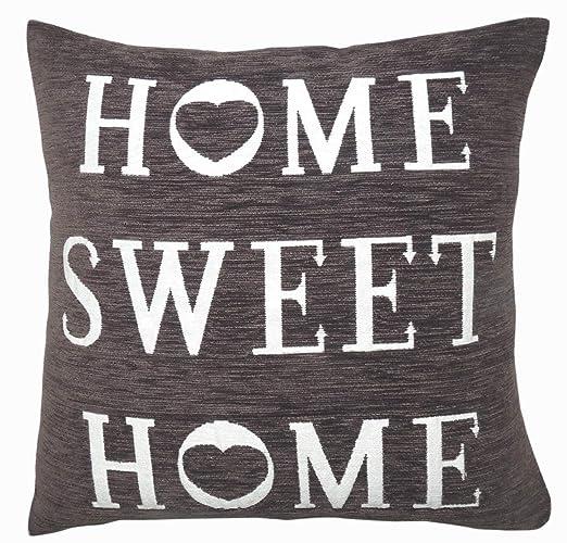 Ashley Mills Home Sweet Home - Funda de cojín (Chenilla, 43 ...