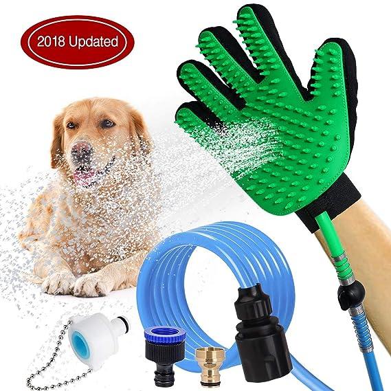 HEQUN Herramienta de baño para Mascotas, masajeador Multifuncional para baño de Mascotas,Masaje Grooming Interior/Exterior Uso para la Limpieza de su Perro, ...