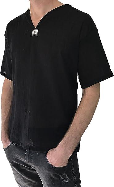 Love Quality Mens Short Sleeve Shirt 100% Cotton Hippie Yoga Shirt
