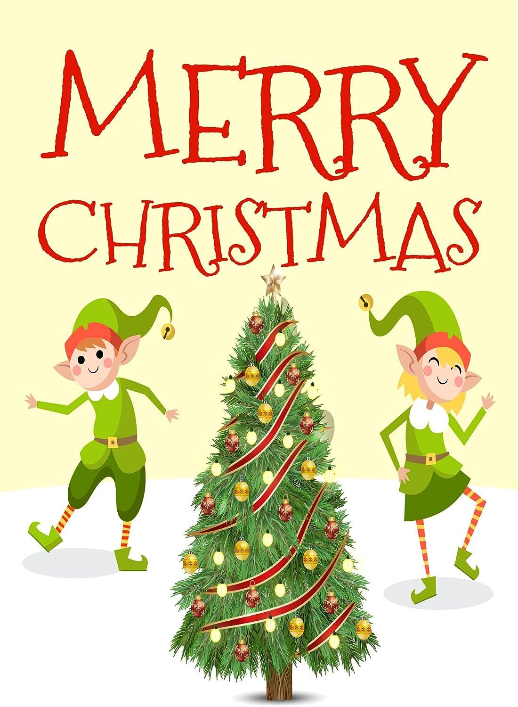 Pack de 10 tarjetas de Navidad elfo de la novedad divertido y ...