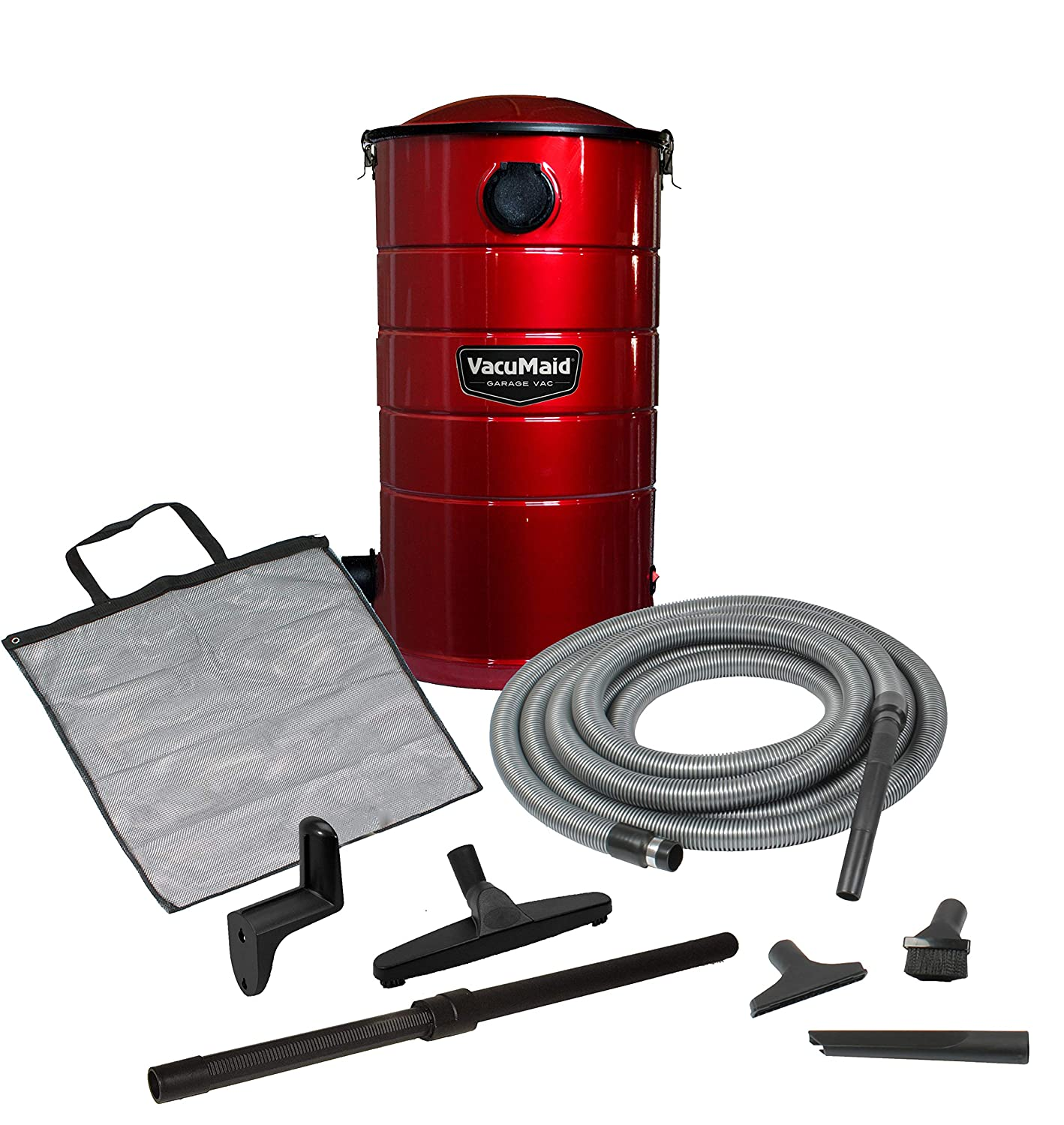 VacuMaid GV30R Wall Mounted Garage and Car Vacuum with 30 ft hose and Tools