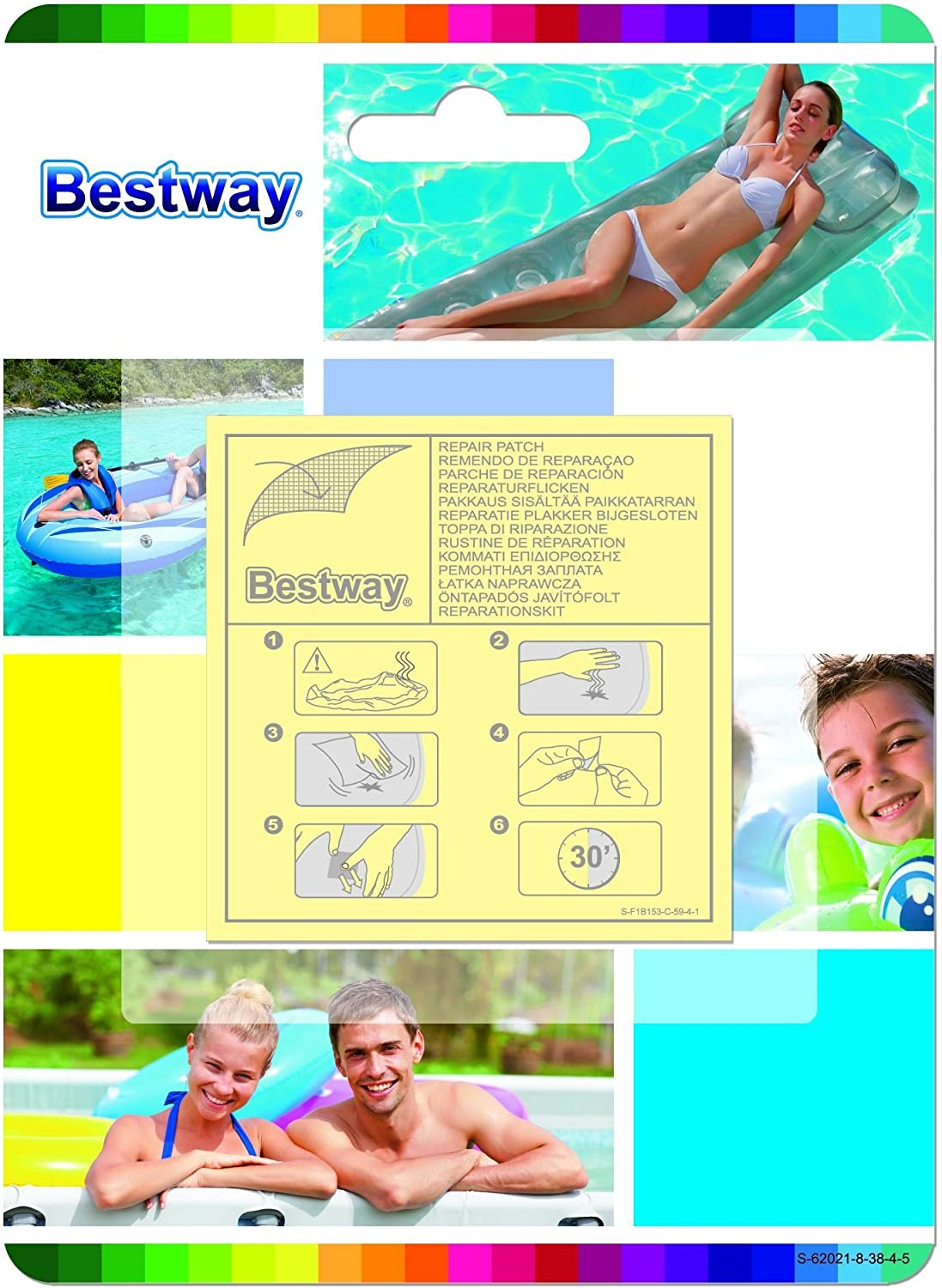 Bestway 8320540 Kit Parches para reparación (Blister 10 Piezas ...