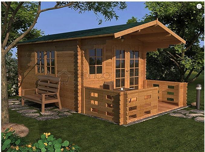 Mondocasette Casa Casa de Madera de jardín – Modelo Bologna Grosor Paredes 28 mm 3 x 4 m, legnaia ripostiglio Box: Amazon.es: Jardín