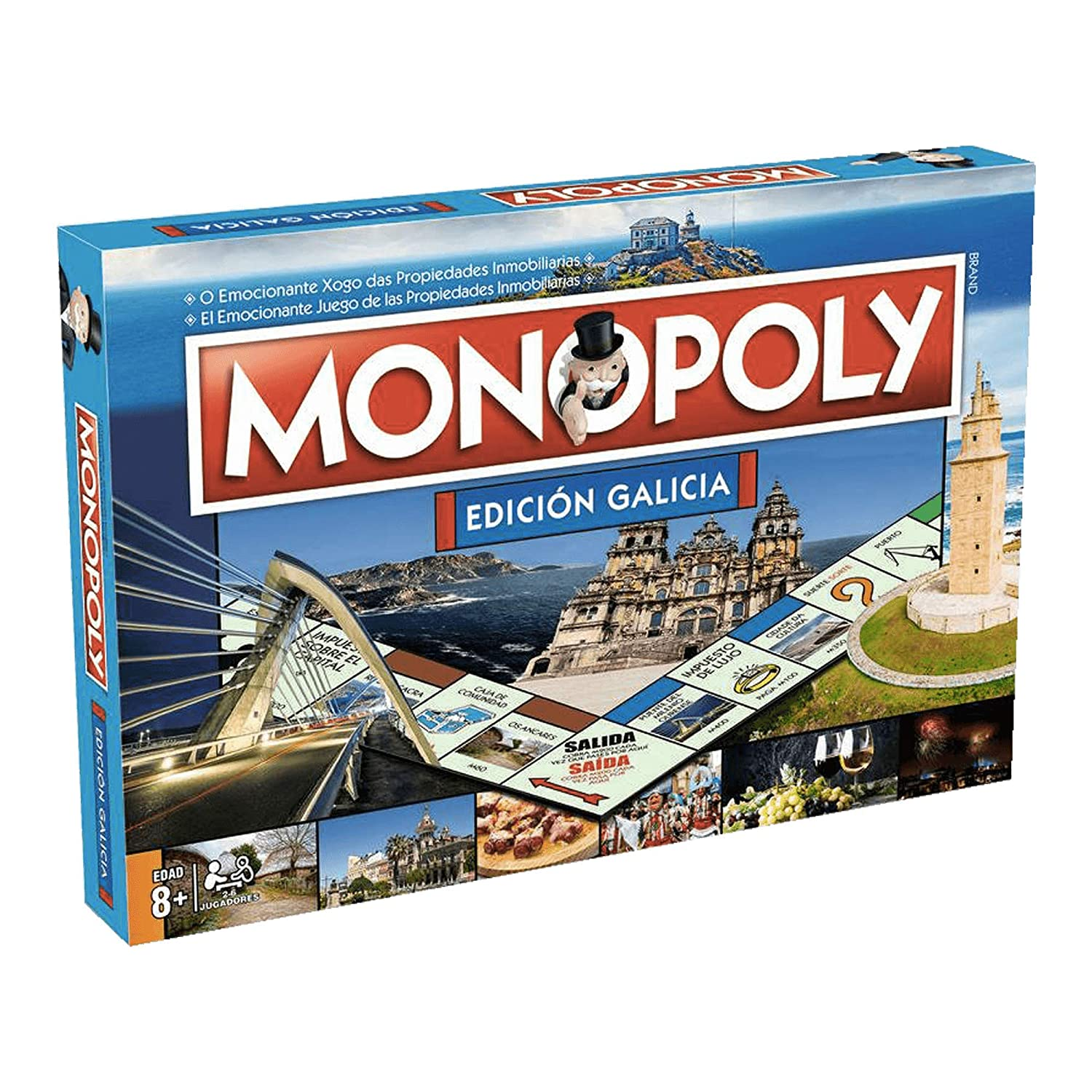 ELEVEN FORCE Monopoly Galicia (Spanish/Gallego), Blue (10223)   B07JCFRP7F