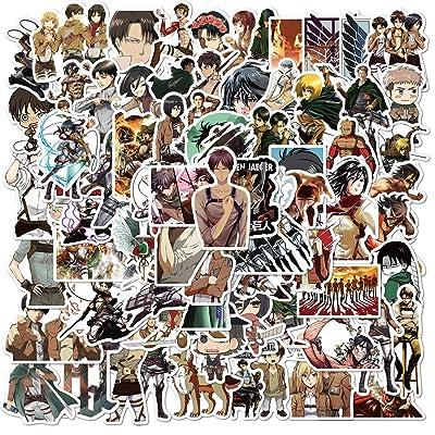 ZJSXINDI Anime Stickers Mixed Pack 200Pcs Attack on Titan Stickers Jujutsu Kaisen Stickers Chainsaw Man Stickers SPY Family Stickers