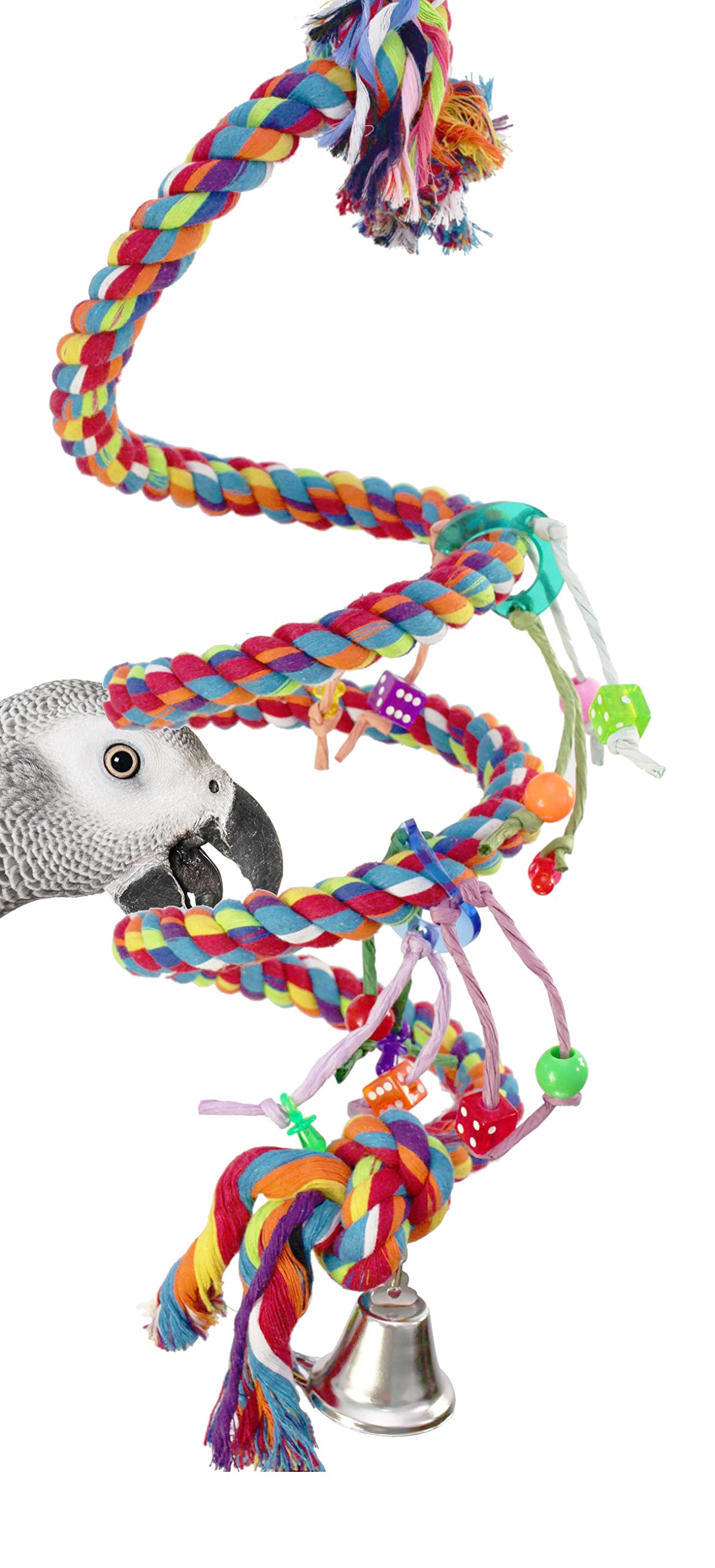 Bonka Bird Toys 1961 Large Charm Rope Boing Coil Swing Bird Toy parrot cage toys cages Amazon by Bonka Bird Toys