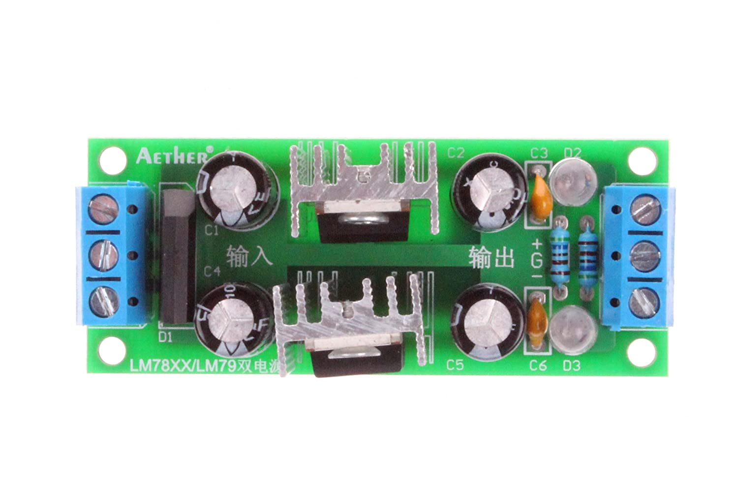 Lm7805 Lm7905 Three Terminal Regulator Power Supply Increase The Current Ic Module Dc8 15v Ac6 12v To 5v Dual Voltage With Rectifier Bridge