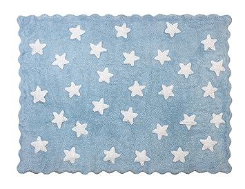 Aratextil Teppich Kinderzimmer Kinderteppich Sterne Eden Gra N