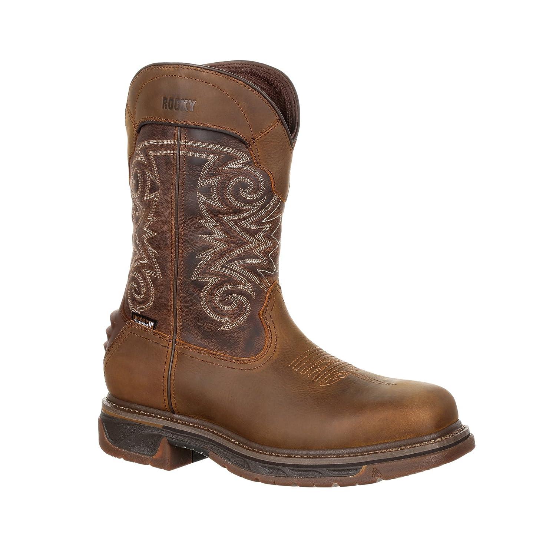 Rocky Mens Iron Skull Composite Toe Waterproof Western Boot-RKW0249