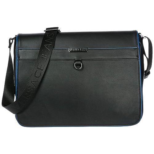 989b2b26a116 Versace Jeans men s cross-body messenger shoulder bag black  Amazon.ca   Shoes   Handbags