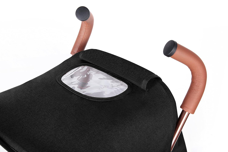 prot/ège-jambes et housse de pluie extensibles UPF 50+ Capuche Discovery Max Poussettes Ickle Bubba Noir//rose Technologie Compact un l/ég/ère pour faciliter le transport et le stockage