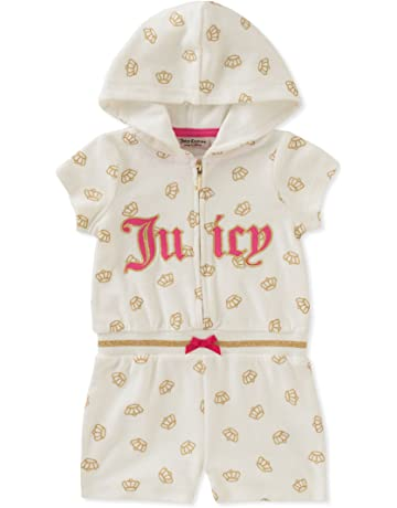 3ff30463ef15 Juicy Couture Baby Girls Hooded Romper