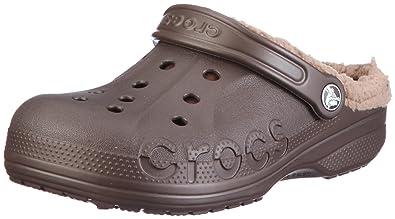 crocs Men's 11692 Baya Lined Mule,Espresso/Khaki,11 ...