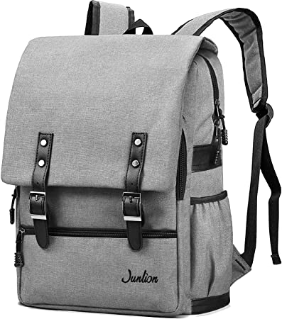 Casual Style Men Backpack Solid Canvas Student School Bag High Quality Boys Gift